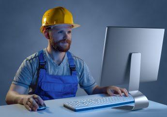 ouvrier ordinateur