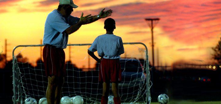 Coach with boy